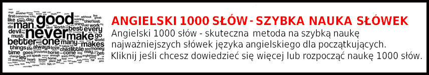 Angielski 1000 słów - Szybka Nauka Słówek przez Internet