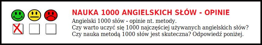 Nauka 1000 angielskich słów - opinie (czy warto)